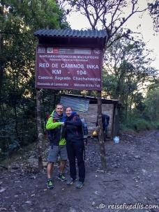 Wir starteten den Inka-Trail bei Kilometer 104