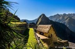 Machu Picchu - das Strohdach wurde rekonstruiert
