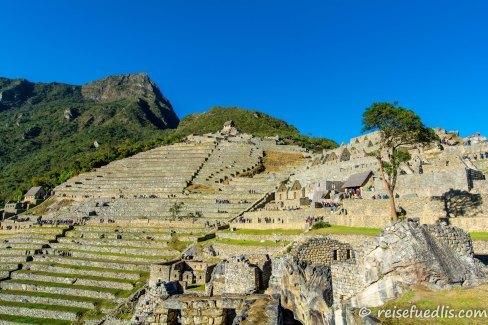 Machu Picchu, die terrassenförmige Stadt
