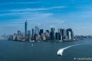 Skyline Manhattan vom Helikopter aus gesehen