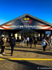 Eingang zu den US Open