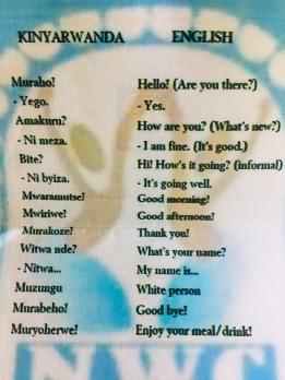 Die Hauptsprache in Ruanda ist Kinyarwanda